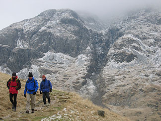 Traversing Great Gable above Wast Water